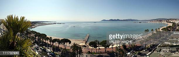 A general view taken on March 17 2009 in Cannes southeastern France shows the 'Croisette' two months ahead of the 62nd Cannes international film...