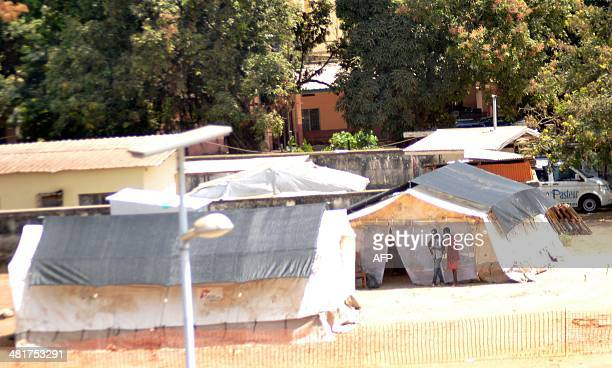 A general view taken on March 31 2014 shows the isolation ward of the Donka hospital in Conakry Guinea Aid organisation Doctors Without Borders said...