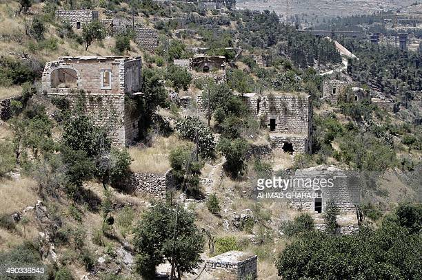 A general view taken on May 14 2014 shows the Palestinian village of Lifta which was abandoned during fighting in the 1948 ArabIsraeli war on the...