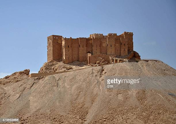 General view taken on May 18, 2015 shows the castle of the ancient Syrian city of Palmyra, a day after Islamic State group jihadists fired rockets...