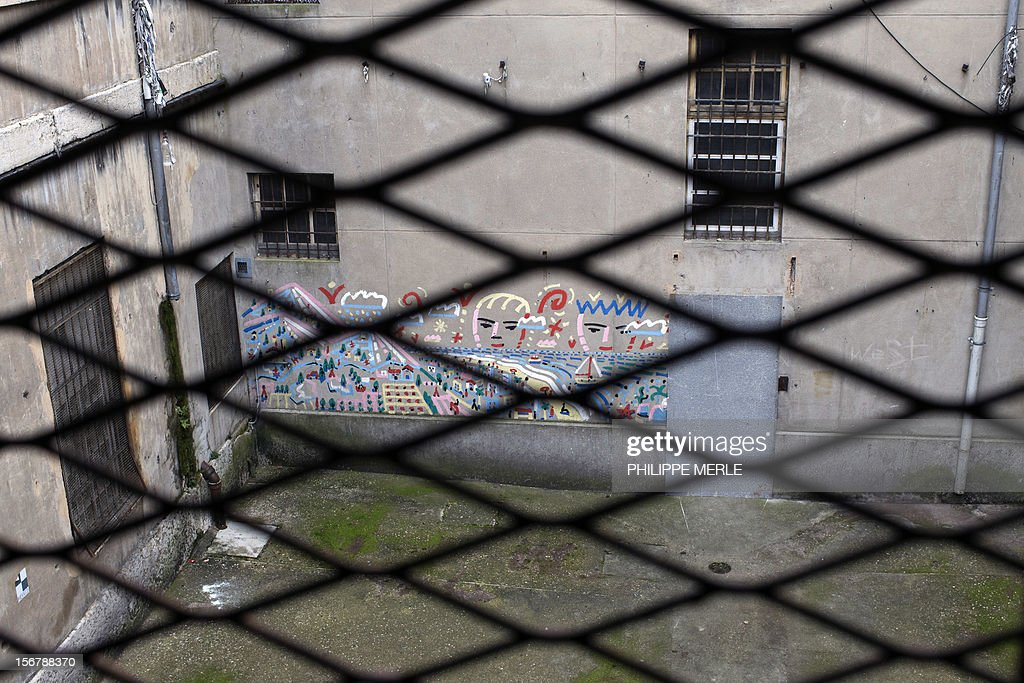 MALLE - A general view taken on November 16, 2012 shows a yard in the former Saint-Joseph prison in Lyon. The old prison situated in the center of Lyon will become a building complex in a few months, an original initiative in France where the old prisons are generally destroyed.
