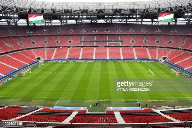 General view taken on November 3, 2020 shows the new Puskas Arena football stadium in Budapest, a venue of the UEFA European Championships 2020-2021.