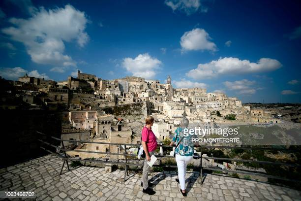 A general view taken on October 19 2018 shows the southern Italian city of Matera which has been selected as the 2019 European capital of culture