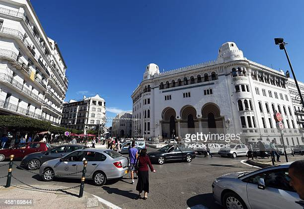 A general view taken on October 29 2014 shows the Grande Poste d'Alger in the Algerian capital The night of November 1 marks the sixtieth anniversary...