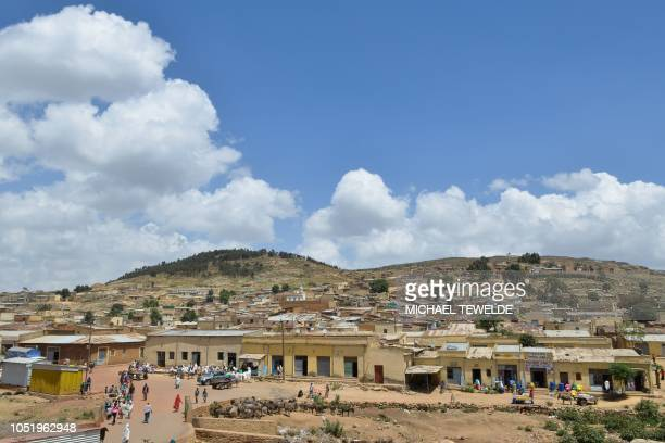 A general view taken on October 3 shows the southern Eritrean town of Senafe some 30km north of the border with Ethiopia on October 3 2018 The...
