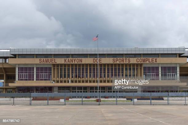 A general view taken on September 27 2017 shows the Samuel Kanyon Doe Sports Complex in Monrovia which is the largest stadium in Liberia The stadium...