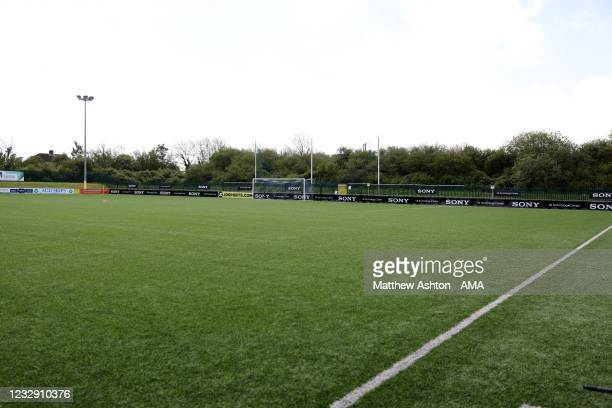 General view the Bryntirion Park / SDM Glass Stadium home of Penybont FC during the Cymru Welsh Premier League match between Penybont and Connah's...