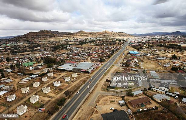 General view the city of Maseru, where the charity Sentebale is based, on July 9, 2008 in Maseru, Lesotho. Sentebale was founded by Prince Seeiso...