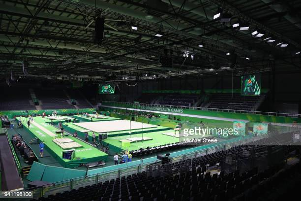 General view the Coomera Indoor Sports Centre venue for artistic and rthymic gymnastics ahead of the 2018 Commonwealth Games on April 3 2018 in Gold...
