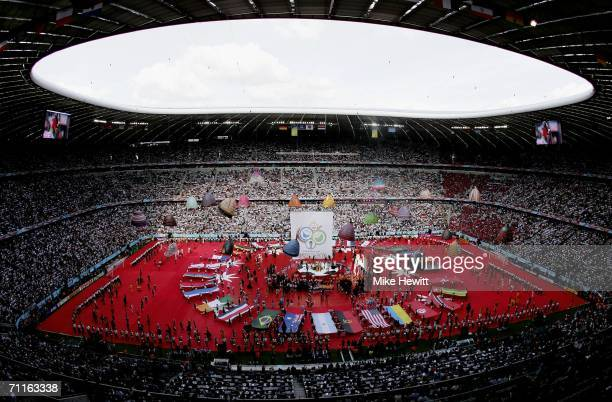 A general view the FIFA World Cup Germany 2006 Opening Ceremony prior to the Group A match between Germany and Costa Rica at the Stadium Munich on...