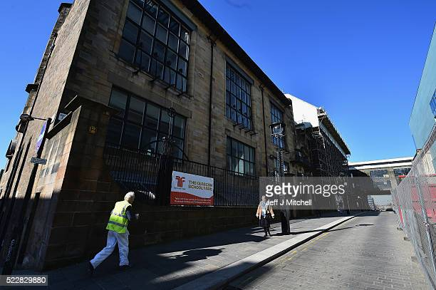 A general View The Glasgow School Art announced major plans for its campus on Garnethill on April 21 2016 in Glasgow Scotland Damaged by fire in May...