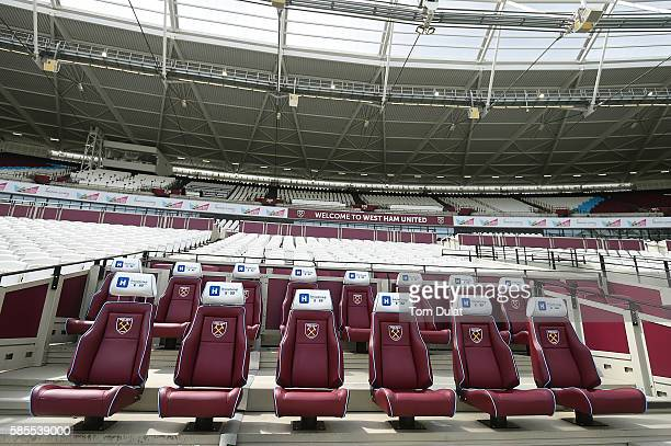 A general view the London Stadium new home to West Ham United FC in Queen Elizabeth Olympic Park on August 3 2016 in London England