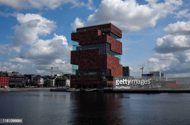 General view the Museum aan de Stroom of Antwerp, in the region of Flanders, Belgium on August 7, 2019.