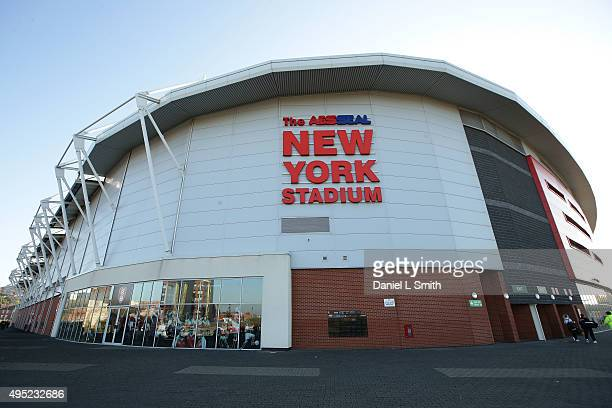 A general view The New York Stadium ahead of the WSL Continental Cup Final between Arsenal Ladies FC and Notts County Ladies FC at The New York...