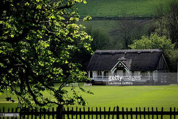 A general view the pavilion at Monkton Combe Cricket Club on April 27 2008 in Monkton Combe England