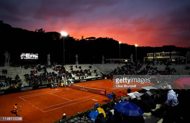 General view the Pietrangeli court as Borna Coric of Croatia plays against Cameron Norrie of Great Britain in their second round match during day...