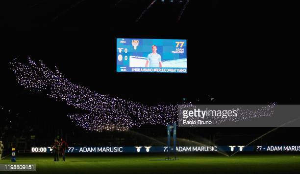A general view the SS Lazio fans during the Serie A match between SS Lazio and Hellas Verona at Stadio Olimpico on February 5 2020 in Rome Italy