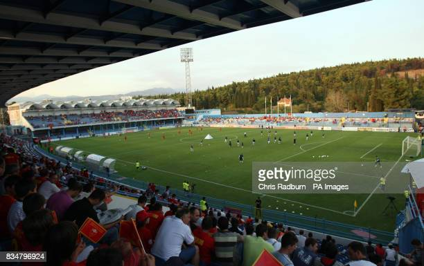 A General view the Stadium ahead of the World Cup Qualifying Group Eight match at the City Stadium Podgorica Montenegro