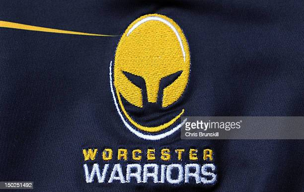 A general view the Worcester Warriors club badge at Sixways Stadium on August 9 2012 in Worcester England