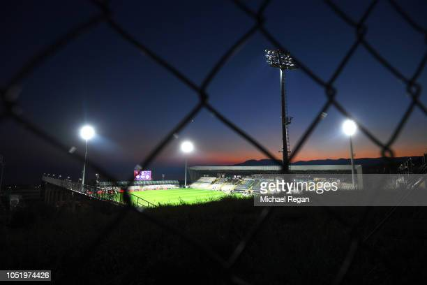 General view through a fence into the stadium prior to the UEFA Nations League A Group Four match between Croatia and England at Stadion HNK Rijeka...