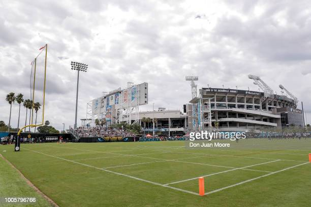 A general view TIAA Bank Field during the Jacksonville Jaguars Training Camp at Dream Finders Homes Practice Complex on July 26 2018 in Jacksonville...