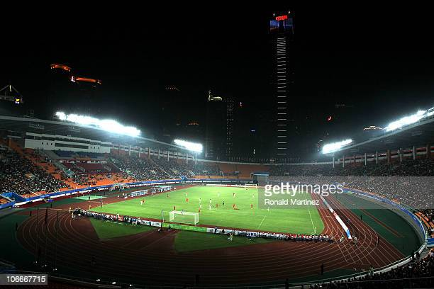 A general view Tianhe Stadium during the Men's Football group A pool match ahead of the 16th Asian Games Guangzhou 2010 between China and Kyrgyzstan...