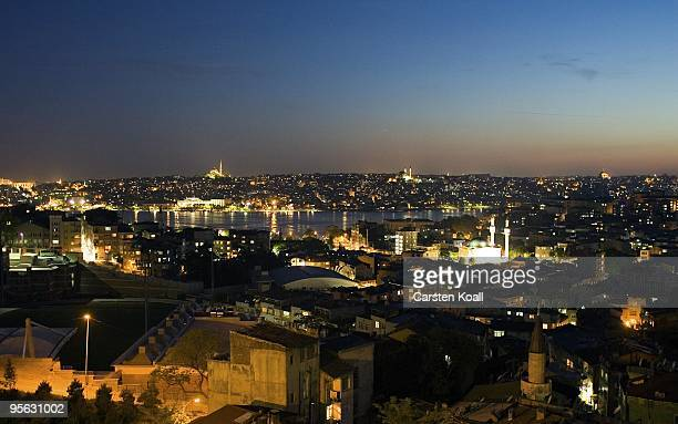 General view to the district Tarlabasi on May 14, 2006 in Istanbul, Turkey. Tarlabasõ is a neighbourhood in the Beyoglu district stretching from...