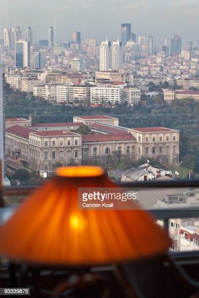 General view to the towers in the financial and business district on October 20, 2009 in Istanbul, Turkey. The Turkish metropolis on the Bosphorus,...