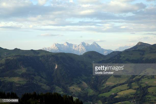 A general view to Wilder Kaiser during the first Ladies Day and start of the Queens Club hosted by Maria HoeflRiesch on June 26 2020 at Berggasthof...