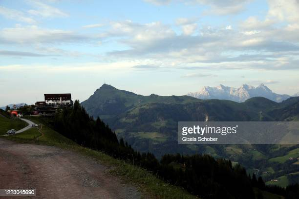"""General view to Wilder Kaiser during the first Ladies Day and start of the """"Queens Club"""" hosted by Maria Hoefl-Riesch on June 26, 2020 at Berggasthof..."""