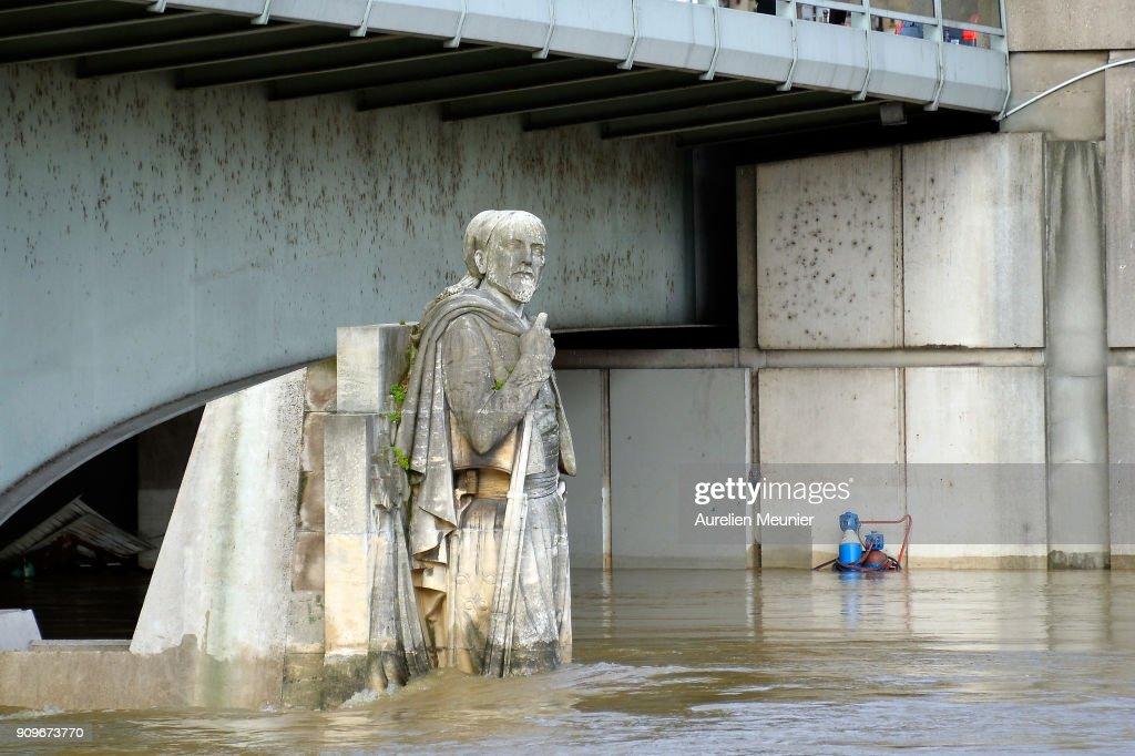 River Seine Bursts Banks In Paris