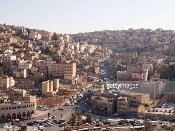 General view towards Prince El Hassan street from Jabal Amman hill. Amman, Jordan