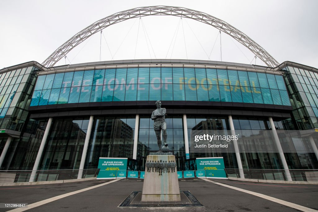 General Views of Wembley Stadium As Euro 2020 Is Postponed Until 2021 : News Photo