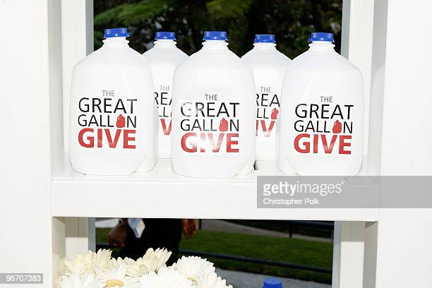 A general view while actress Rebecca Romijn unveils her second Milk Mustache ad and kicks off the got milk 'Great Gallon Give' a partnership with...