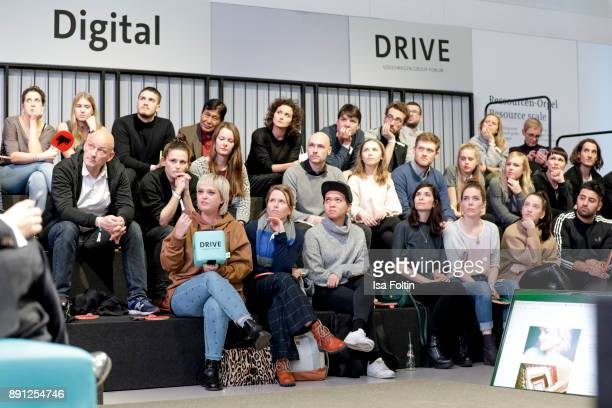 A general view with Blogger Vreni Frost during the discussion panel of Clich'e Bashing 'soziale Netzwerke Real vs Digital' In Berlin at DRIVE...