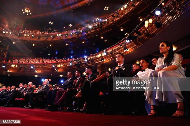 General view with Cristiano Ronaldo and his family during The Best FIFA Football Awards at The London Palladium on October 23 2017 in London England