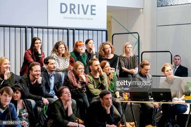A general view with German actress Jennifer Ulrich and German actor Constantin von Jascheroff during the discussion panel of Clich'e Bashing 'soziale...