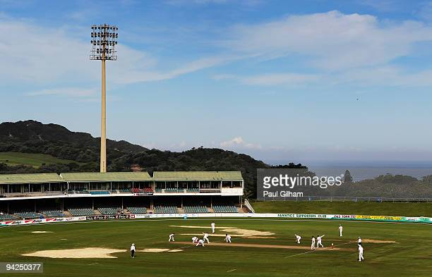 General view with Graeme Swann of England bowling during day two of the two day warm up match between South African Airways XI and England at Buffalo...