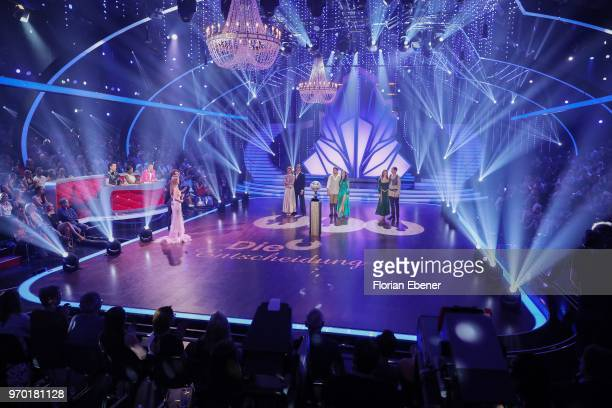 A general view with Judith Williams and Erich Klann Ingolf Lueck and Ekaterina Leonova and Barbara Meier and Sergiu Luca during the finals of the...