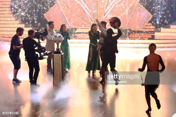 A general view with Judith Williams and Erich Klann Ingolf Lueck and Ekaterina Leonova during the finals of the 11th season of the television...