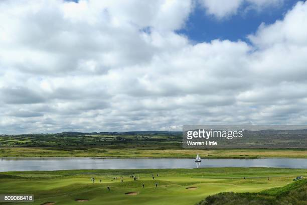 General views across the course during the ProAm of the Dubai Duty Free Irish Open at Portstewart Golf Club on July 5 2017 in Londonderry Northern...