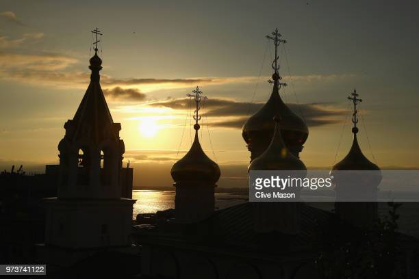 General views around the city ahead of the 2018 FIFA World Cup on June 13, 2018 in Nizhny Novgorod, Russia.