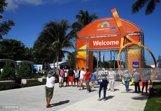 General views around the grounds during day four of the Miami Open tennis on March 21 2019 in Miami Gardens Florida