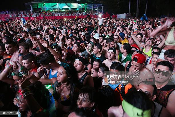 General views around Ultra Music Festival at Bayfront Park Amphitheater on March 27 2015 in Miami Florida