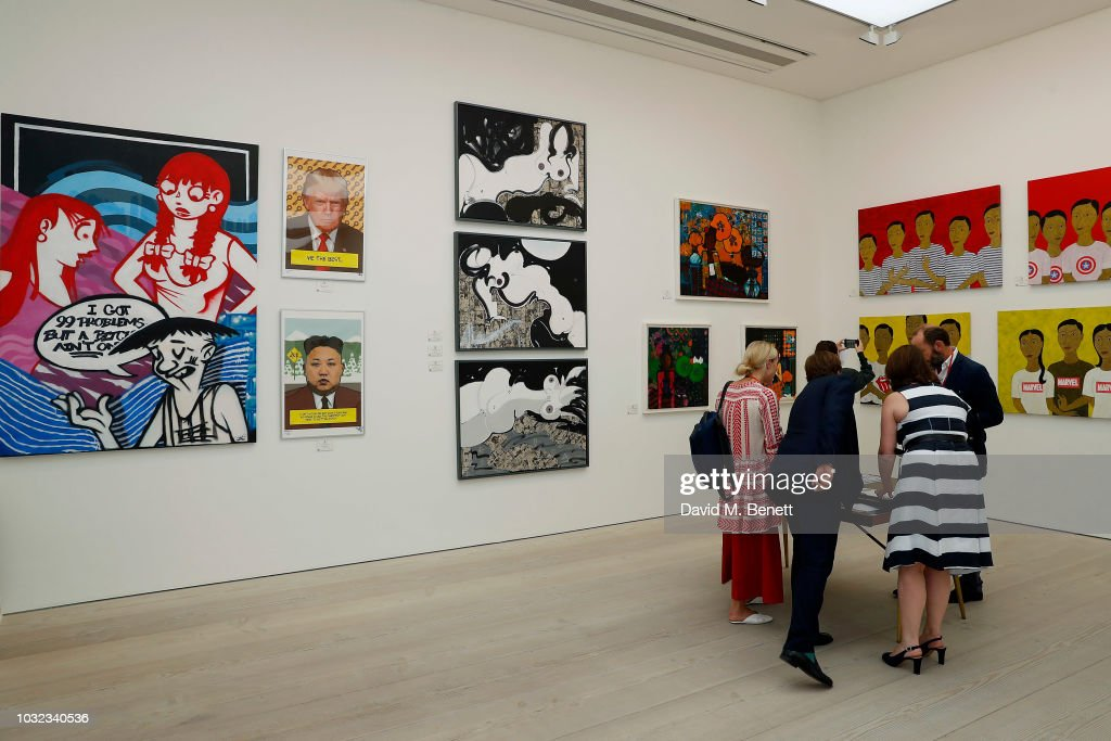 General views at a VIP private view of the START Art Fair at the Saatchi Gallery on September 12, 2018 in London, England.