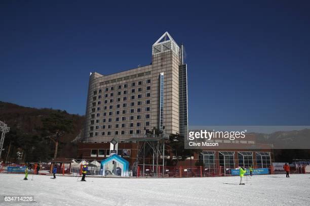 General views at Bokwang Snow Park on February 11 2017 in Pyeongchanggun South Korea