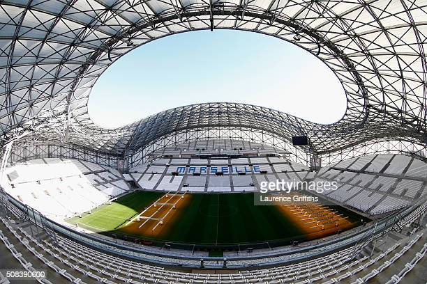 General views at Stade Velodrome on February 4 2016 in Marseille France