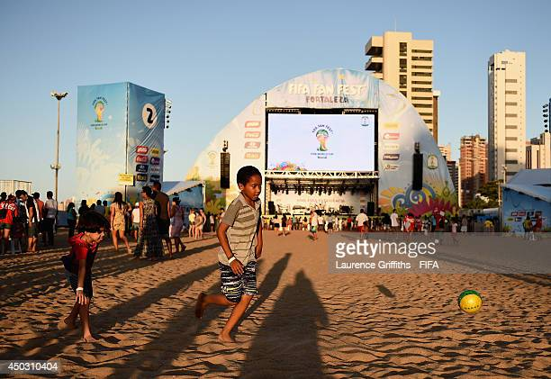 General views during the 2014 FIFA World Cup Fan Fest Kick off Event in Fortaleza on June 8 2014 in Fortaleza Brazil