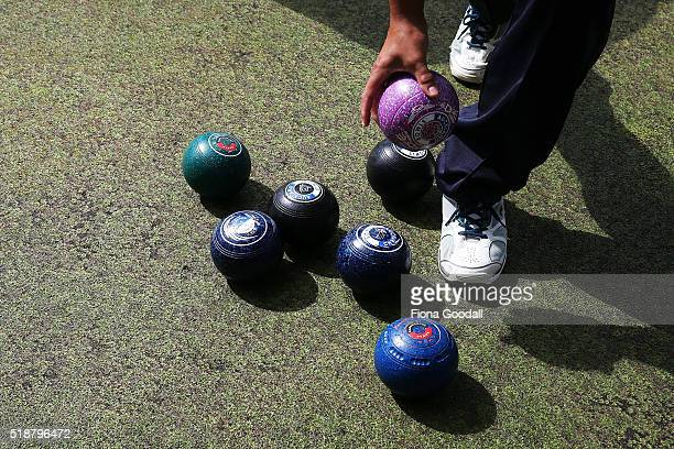 General views during the Bowls New Zealand Intercentre at Howick Bowling Club on April 3 2016 in Auckland New Zealand
