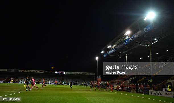General Views during the Carabao Cup third round match between Lincoln City and Liverpool at Sincil Bank Stadium on September 24, 2020 in Lincoln,...